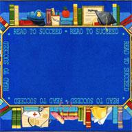 Multi Joy Carpets Read to Succeed Kids Rug
