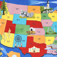 MultiJoy Carpets Read Across America Kids Rug