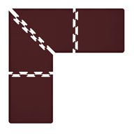 Burgundy WellnessMats PuzzlePiece - 3' Wide L Series