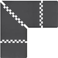 Grey WellnessMats PuzzlePiece - 3' Wide L Series