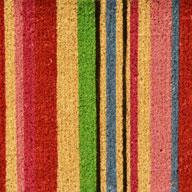 Striped Striped Coir Doormat