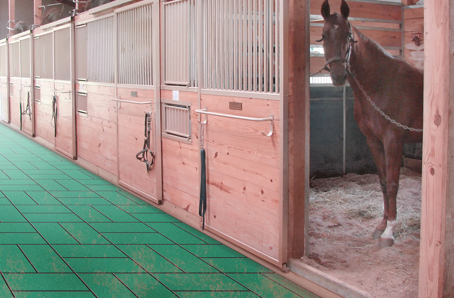 1 Inch Horse Stall Tiles Equine Floor Mats
