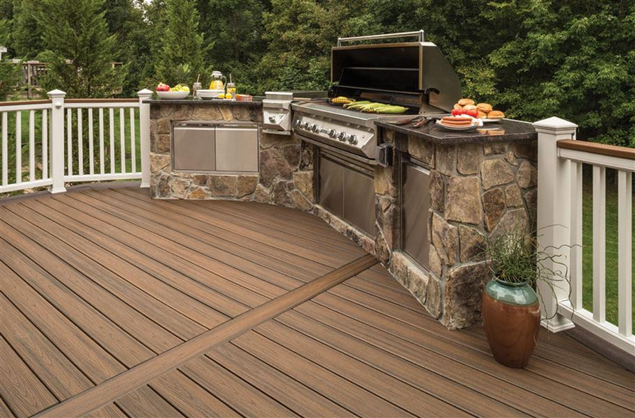 Trex transcend grooved edge decking board us made for Colors of composite decking
