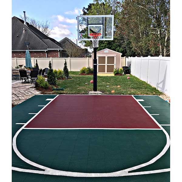 Outdoor sports tiles discount outdoor gym tiles for Backyard sport court
