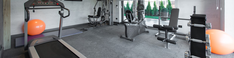 Rubber exercise mats for Commercial Tiles