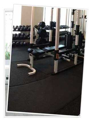 Rubber exercise mats for home gym
