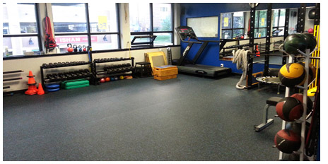 Rolled rubber flooring for home gym