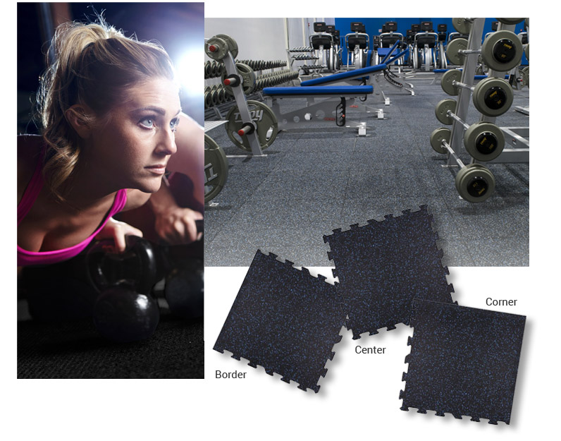 DIY Gym Floor Tiles