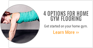 Four options for home gym flooring