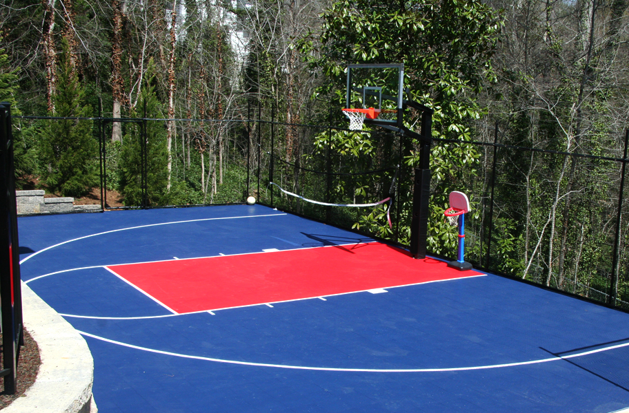Outdoor sports tiles discount outdoor gym tiles for Cost of sport court