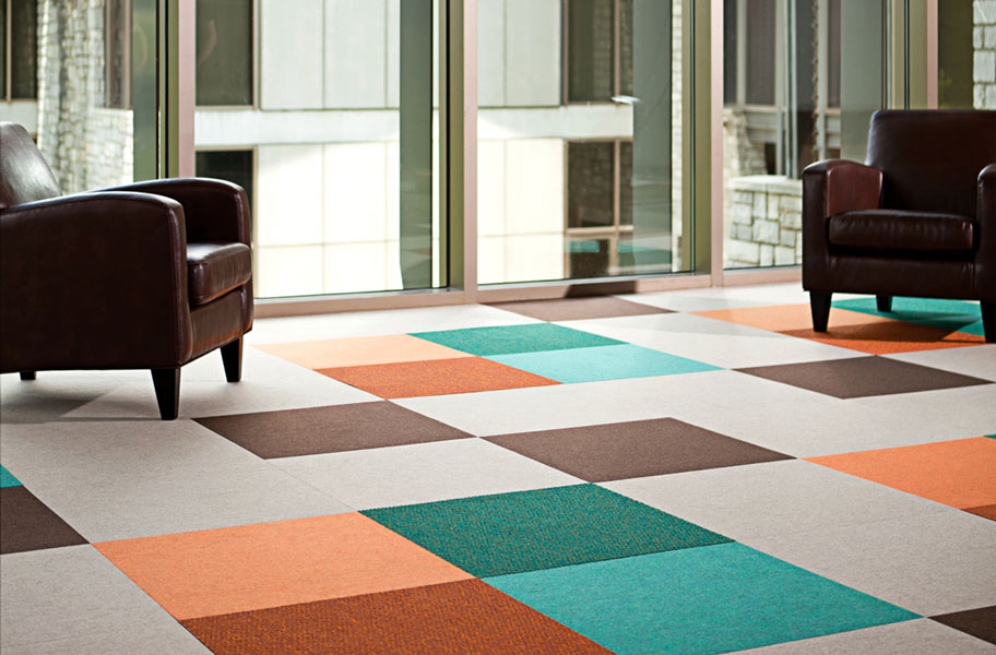 Svelte Carpet Tiles Bright And Colorful Commercial Grade