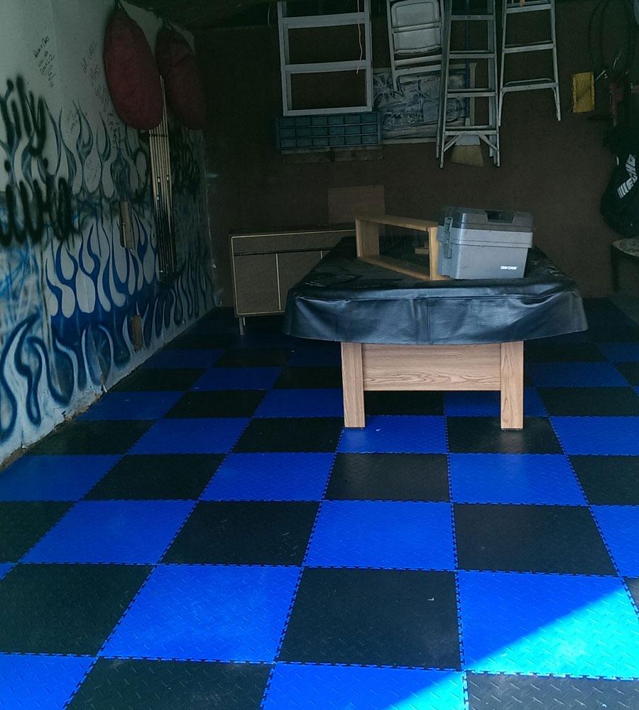 Diamond flex tiles pvc garage floor tiles rubberflooringinc customer dailygadgetfo Images