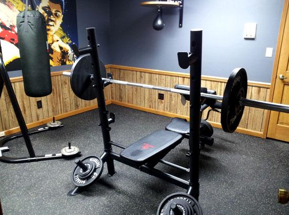Home gym rubber flooring cheap floor matttroy