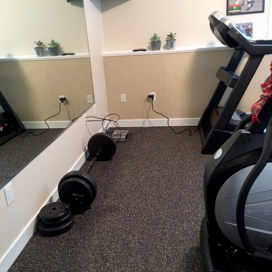 Rubberflooringinc Customer Home Exercise Room