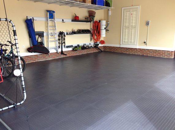 Coin flex tiles modular pvc garage floor tiles rubberflooringinc customer tyukafo