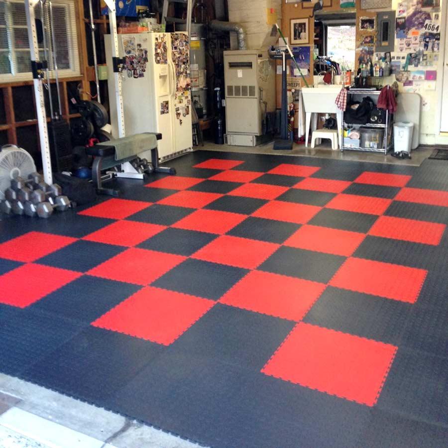 65 mm coin flex tiles interlocking pvc garage tiles rubberflooringinc customer dailygadgetfo Images