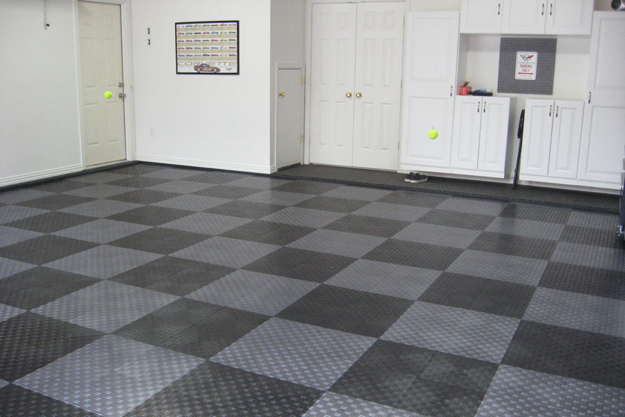 Diamond Grid-Loc Tiles | Snap Together Garage Floor Tiles