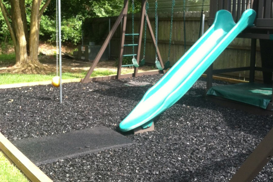 Playground Swing Mats - Rubber Safefy Mats for Swings and Slides