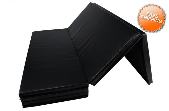 2 Quot Black Gymnastics Tumbling Amp Wrestling Folding Mats 5