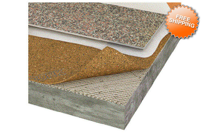 Cork Plus 250 Cork Eva Underlayment Flooring Rolls