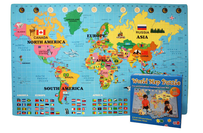 World map mat pictures to pin on pinterest pinsdaddy foam world map kit interlocking puzzle mat 912x600 incstores gumiabroncs Images