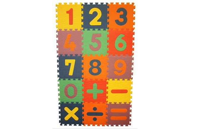 15 Piece Learning Math Mat Kids Baby Infant Play Interlocking Foam