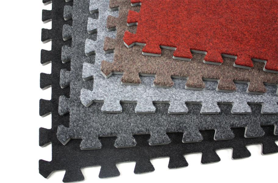 Incstores 5/8 Inch Eco Soft Foam Carpet Tile Mats Black 12 Pack at Sears.com