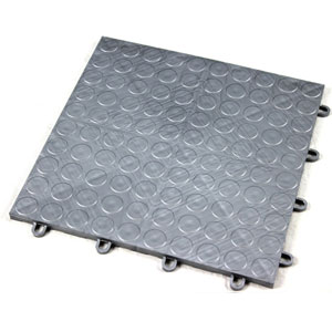 Incstores Coin Grid-Loc Garage Flooring Tiles 12x12in 24 Tile Packs 24 Sqft Gunmetal at Sears.com
