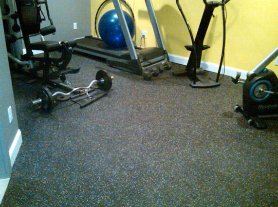Workout flooring over carpet gurus floor