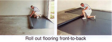 Roll out flooring